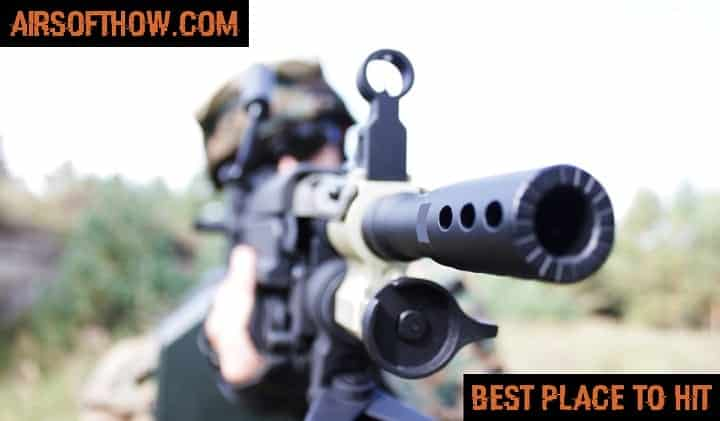 Best place to hit with an Airsoft gun